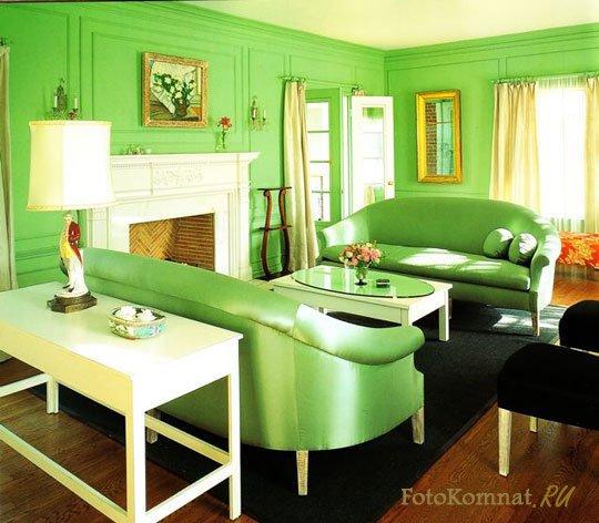 Дизайн комнаты в зеленых тонах фото