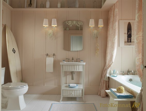 Ванная комната в теплых тонах | Дизайн